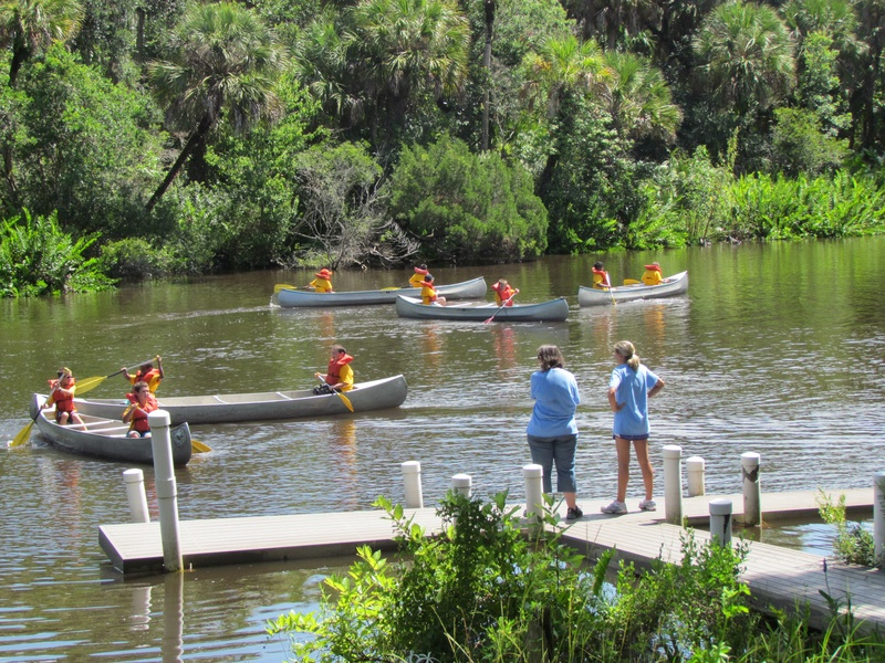 Webelos got to learn canoeing too!